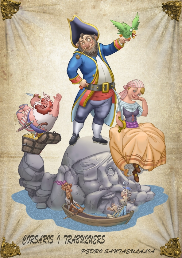 Boceto pareja piratas